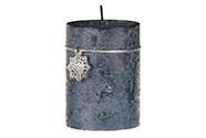 Svíčka vánoční, tmavě modrá barva, 290g vosku.
