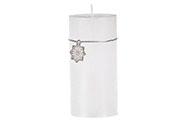 Svíčka vánoční, bílá barva. 426g vosku