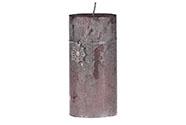 Svíčka vánoční, světle fialová barva, 426g vosku