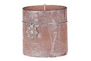 Svíčka vánoční, světle měděná barva. 453g vosku