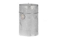 Svíčka vánoční, stříbrná barva. 713g vosku