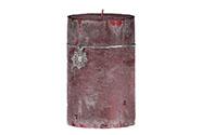 Svíčka vánoční, vínová barva,  713g vosku.