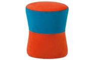 Taburet oranžová / modrá