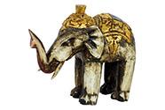 Slon antik - dřevořezba