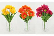 Gerbery, puget, mix barev. Květina umělá.