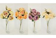 Růže puget, mix barev. Květina umělá.