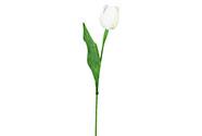Umělá květina. Tulipán, barva bílá