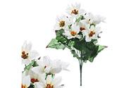 Puget vánočních růží,poinsécek bílých (7 hlav). Květina umělá.