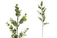 Eukalyptus. Květina umělá plastová, mix 2 barev