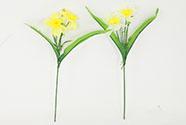Umělá květina. Narciska, barva žlutá-žlutá