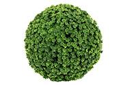 Koule ze zelených lístků. Květina umělá plastová.