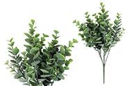 Eukalyptus, barva zelená. Květina umělá plastová.