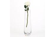 Růže anglická, krémová barva. Květina umělá.