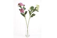 Hydrangea, mix 2 barev. Květina umělá.