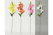 Lilie 3-květá, umělá květina, mix 4 barev