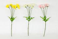 Kopretiny puget, mix 3 barev. Květina umělá.