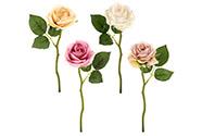 Růže, barva smetanová a růžová. Květina umělá.