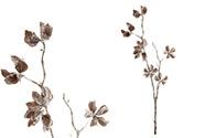 Květina umělá. Větev, zasněžená.