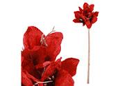 Amarylis, umělá květina, barva červená.