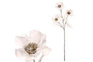 Sasanka, umělá květina, barva bílá.
