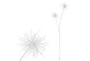 Česnek, umělá květina, barva bílá glitrovaná