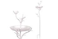 Krmítko, kovová dekorace na zapíchnutí  do zahrady