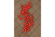 Hvězdička červená dekorační, cena za sadu 120 kusů/1 polybag.