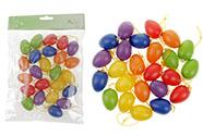 Vajíčka plastová 4cm, 24 kusů v sáčku, mix barev, cena za sáček