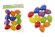 Vajíčka plastová 6cm, 12 kusů v sáčku, mix barev, cena za sáček