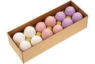 Kropenatá vajíčka, bílo-růžovo-fialová kombinace, cena za 12ks v krabičce. Pravá