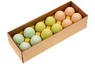 Kropenatá vajíčka, tyrkysovo-zeleno-hnědá kombinace, cena za 12ks v krabičce. Pr