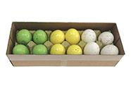 Kropenatá vajíčka, bílo-žluto-zelená kombinace, cena za 12ks v krabičce. Pravá s