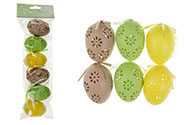 Velikonoční vajíčka 6ks v sáčku, mix barev, cena za sáček