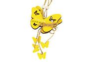 Motýl, 2 kusy v sáčku, dřevěná dekorace na pověšení , cena za 1 sáček,