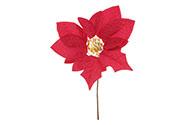 Květina umělá vazbová. Vánoční růže, poinsécie , barva červená