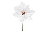 Květina umělá vazbová. Vánoční růže, poinsécie , barva bílá