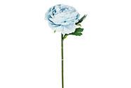 Pivoňka, barva pastelově modrá. Květina umělá.