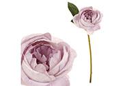 Růže, barva světle fialová. Květina umělá.