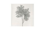 Větev, umělá vánoční dekorace barva stříbrná