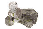 Želva,dekorace z MgO keramiky s otvorem na květináč