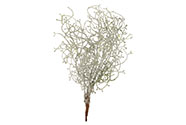 Drátovec bílý ojíněný,  umělá květina