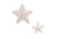 Hvězdičky z polystyrenu v bílé barvě, mix 2velikostí. Cena za 1balení (24ks).