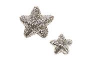 Hvězdičky z polystyrenu ve světle měděné barvě, mix 2 velikostí. Cena za 1balení