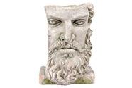 Hlava muže, dekorace z MgO keramiky s otvorem na květináč