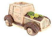 Auto,dekorace z MgO keramiky s otvorem na květináč