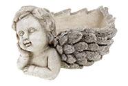 Anděl, dekorace z MgO keramiky s otvorem na květináč