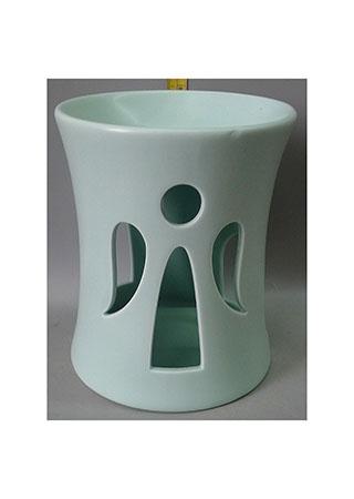 Aroma lampa s andělem, zelená barva, porcelán.