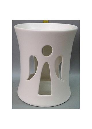 Aroma lampa s andělem, bílá barva, porcelán.