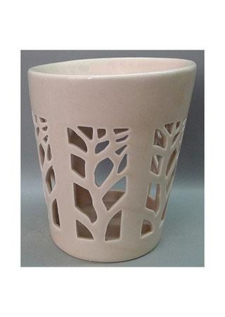 Aroma lampa, motiv strom života, sv.hnědá barva, porcelán.