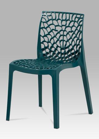Jídelní židle, petrolejová plast